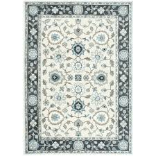 grey white area rug gray and shiflett blue three posts