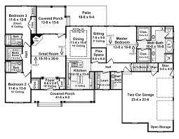 Mediterranean Style House Plan  4 Beds 300 Baths 2200 SqFt Plan 2200 Square Foot House Plans