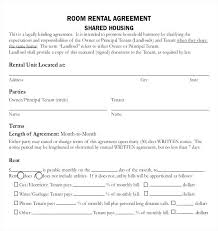 Free Room Rental Agreement Template Form Sample Lease – Juegame