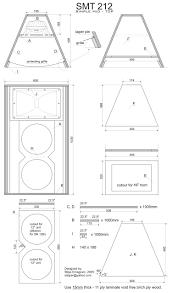 Speaker Box Design Plans Simple Mid Top Smt212