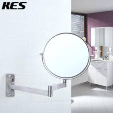 wall mirrors swivel wall mirror stainless steel bathroom magnification two sided swivel wall mount mirror