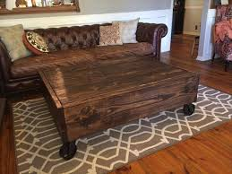 Diy rustic coffee table Farmhouse Coffee Recycled Pallet Coffee Table With Wheels Pallet Furniture Plans Diy Rustic Pallet Industrial Coffee Table Pallet Furniture Plans