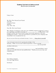 Application For Internship Sample How Write An Cover Letter Unique