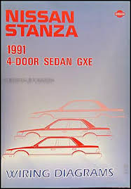 1991 nissan stanza wiring diagram manual original