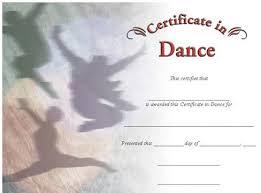 Dance Award Certificate Dance Photo Image Certificate Wilson Awards