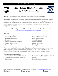 Hotel Management Resume Examples Examples Of Resumes