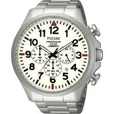 pulsar men s large luminous dial chronograph watch watches from pulsar men s large luminous dial chronograph watch pt3321x1