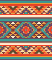 Navajo Pattern Custom Seamless Colorful Navajo Pattern Vector Illustration Stock Vector