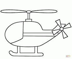 Small Picture Simple Helicopter coloring page Free Printable Coloring Pages