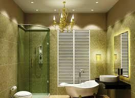 alluring bathroom ceramic tile ideas. Bathroom Mirror Lighting Ideas Transparent Glass Door Beige Stained Wall Stainless Steel Towel Holder Alluring Vanity Ceramic Tile