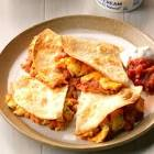 bacon  egg and cheese quesadillas