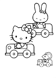Hello Kitty Coloring Pages Coloringpages1001com