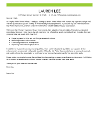 Make Me A Cover Letter Leading Professional Police Officer Cover Letter Examples