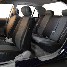 black gray pu leather seat covers for car suv w black heavy duty floor mats