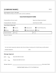 Tracking Employee Time Off Excel Template Vacation Form Ohye Mcpgroup Co