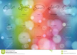 2015 Calendar Page One Page Bokeh Calendar Design 2015 Stock Vector Illustration Of