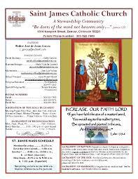 Increase Our Faith Lord St James Roman Catholic Church