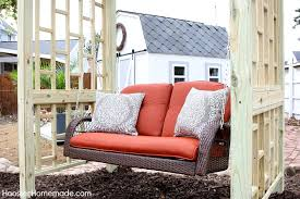 diy backyard swing add beauty and function with this easy to build swing frame