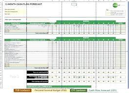 12 Month Cash Flow Template Sales Forecast Template Excel