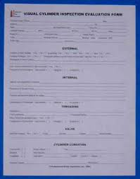 Cylinder Evaluation Forms (Word Format) : Psi Cylinders ...