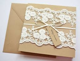 handmade wedding invitations 21 designs that every couple will Handcrafted Wedding Stationery Uk kraft wedding invitation withlace luxury handmade wedding invitations uk