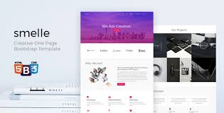 Smelle Creative One Page Bootstrap Template