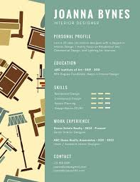 Interior Design Resume Cool Green Interior Designer Infographic Resume Templates By Canva