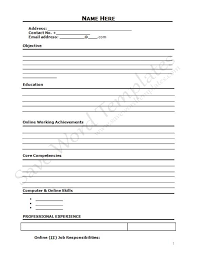 Free Blank Resume Prepossessing Curriculum Vitae Blank Form Httpwww