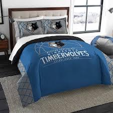 nba minnesota timberwolves queen comforter and 2 shams