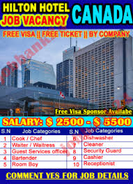 How To Get A Restaurant Job Jobs In Canada Hotel And Restaurant How To Get A Hotel Job