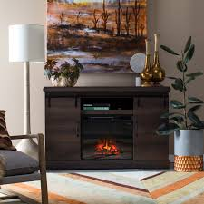 Altra Barrow Creek Electric Fireplace 60 in. Console with Glass Doors -  Espresso   Hayneedle