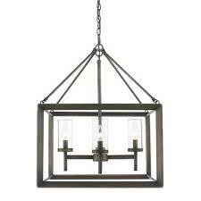 smyth collection 4 light metal bronze chandelier