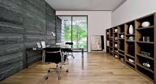 home office modern. Modern Home Office Design With Black Stone Walls