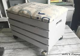 wooden crate furniture. How To Create A Wooden Crate Rolling Storage Ottoman, To, Painted Furniture, Furniture N
