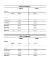 excel income statement excel income statement 7 free excel documents download free