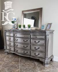 chalk painted bedroom furnitureDresser painted in Annie Sloan Chalk Paint French Linen Then a
