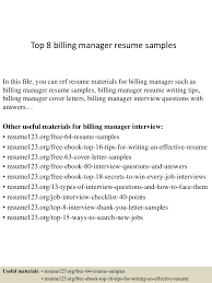 Billing Manager Resume Sample top60billingmanagerresumesamples60conversiongate60thumbnail60jpgcb=16027960566060 41
