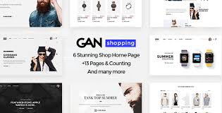Ecommerce Website Template Stunning GAN Ultimate Shopping ECommerce PSD Template By Themeton ThemeForest