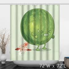 funny shower curtain. Funny Watermelon Defecate Cartoons Shower Curtain W
