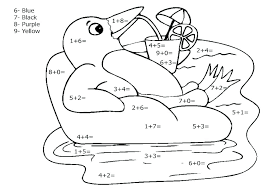 Coloring Worksheets For Math Free Printable Parrot Addition Page ...