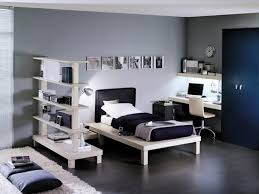 white girl bedroom furniture. Monochromatic Black And White Kids Bedroom With Two Sided Book Shelves As Partition Also Blue Metal Wardrobe Next To The Table For Girl Furniture