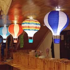 30cm hot air balloon paper lantern ceiling light shade bedroom fun lamp decor