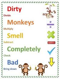 Long Division Process Chart Long Division Steps Dirty Monkeys Smell Completely Bad