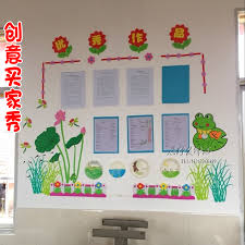 This again is a classic idea and is often used because it looks so good and makes a lot of sense. Kindergarten Theme Wall Decoration Primary School Class Cultural Wall Blackboard Newspaper Decoration Classroom Materials Creative