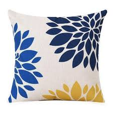 Image Gray Rouse The Room Navy Blue And Yellow Throw Pillows On Sale Now Free Shipping