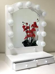 amusing vanity mirror with lights lighted table top on light illuminated canada astounding style and old