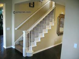 stairs bannister painted stair handrail all white stair railing ideas wood