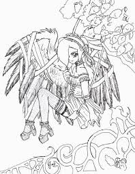 Anime Fairy Coloring Pages For Adults Colorings For Gothic Coloring