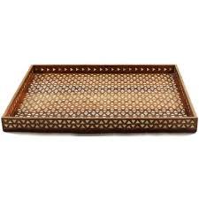 Decorative Metal Tray Harlequin Decorative Bone Inlay Wood Tray Roomattic
