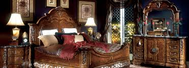 of the excelsior collection with noble features that rival expensive antiques the warm fruitwood finish merges with intricate carvings old world
